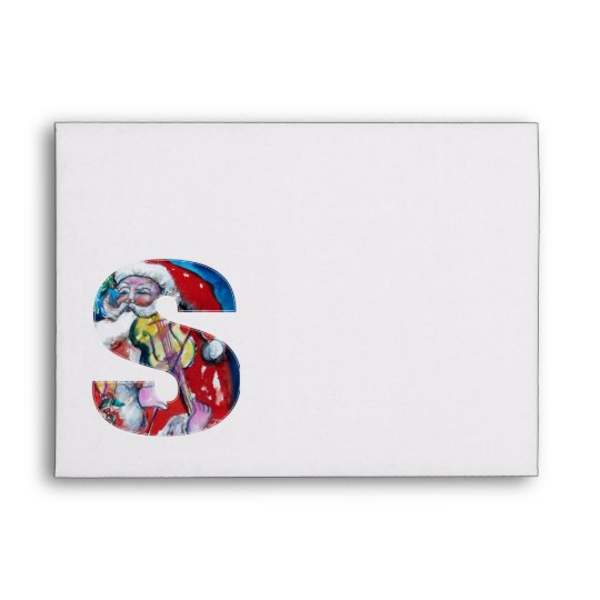 CHRISTMAS S LETTER /SANTA  CLAUS WITH VIOLIN ENVELOPE