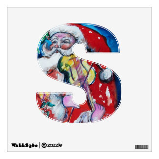 CHRISTMAS S LETTER /SANTA  CLAUS WITH VIOLIN ROOM GRAPHICS