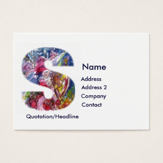 CHRISTMAS S LETTER  / SANTA  PLAYING HARP BUSINESS CARD