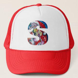 CHRISTMAS S LETTER  / SANTA WITH VIOLIN MONOGRAM TRUCKER HAT