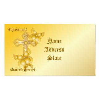Christmas Sacred Secret-Customize Business Card Template