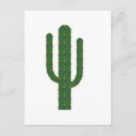 Christmas Saguaro Postcard