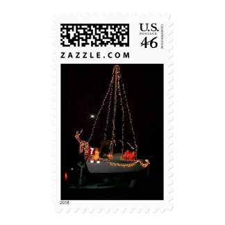 Christmas Sailboat stamp