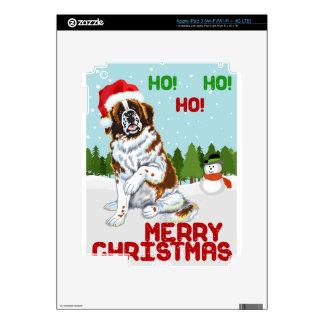 Christmas Saint Bernard Decals For iPad 3