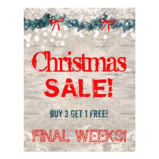 Christmas Sale Flyer Bark Wood Yuletide