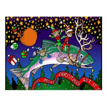 kingdomofbill Christmas Salmon Postcard