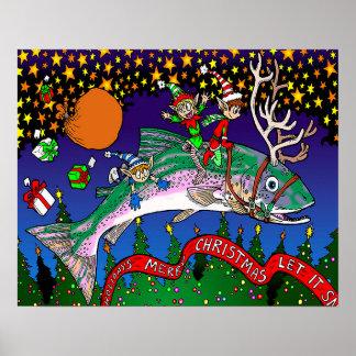 Christmas Salmon Poster
