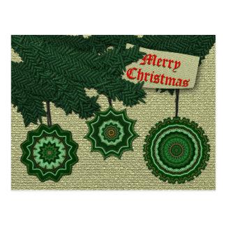 Christmas Sampler Postcard