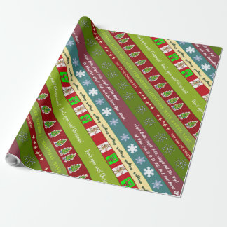 Christmas Sampler Wrapping Paper