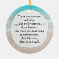 Christmas Sand Dollar Christian Leadership Ceramic Ornament at Zazzle