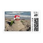 Christmas sandman snowman #3 stamp