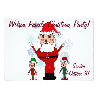 Christmas Santa and elves Invite