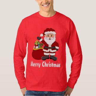 Christmas Santa and his bag mens t-shirt