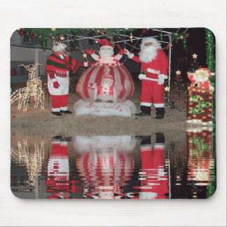 Christmas Santa and Mrs Claus Mouse Pad