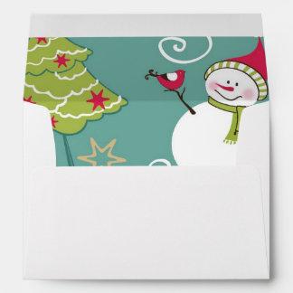 Christmas Santa and snowman pattern Envelope