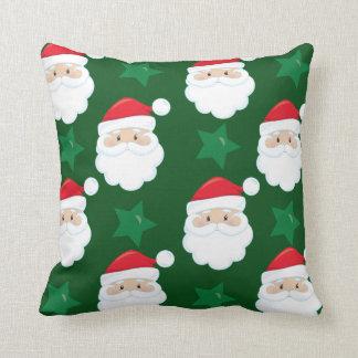 Christmas Santa and Star Pattern Pillow