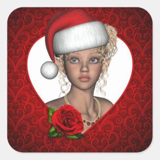 Christmas Santa Baby Elf Sticker