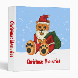 Christmas Santa Bear Scrapbook Binder