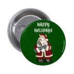 Christmas Santa Button