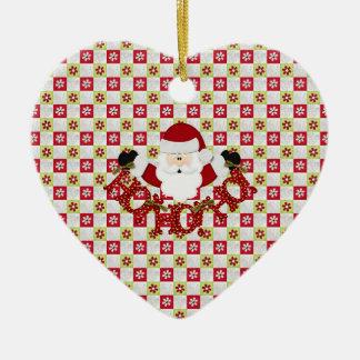 Christmas Santa Ceramic Ornament