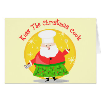 Christmas Santa Chef Card