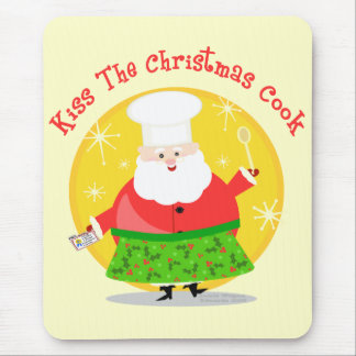 Christmas Santa Chef Mouse Pad