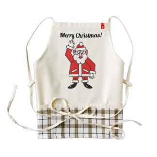 Christmas Santa Claus 02.4 (P) Zazzle HEART Apron