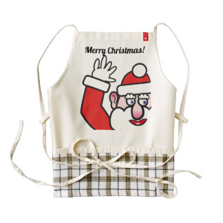 Christmas Santa Claus 02.5 Zazzle HEART Apron
