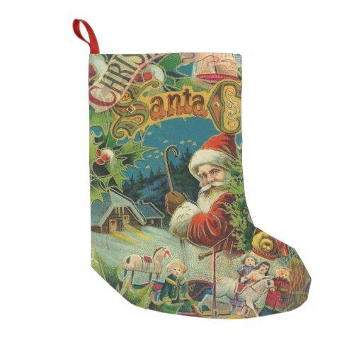 Christmas Santa Claus Victorian Small Christmas Stocking