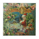 Christmas Santa Claus Antique Vintage Victorian Small Square Tile