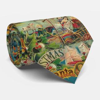Christmas Santa Claus Antique Vintage Victorian Tie