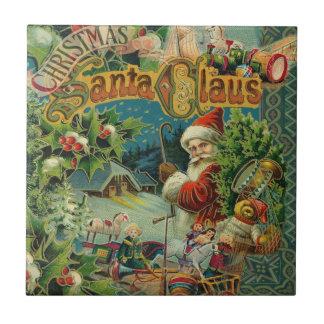 Christmas Santa Claus Antique Vintage Victorian Tile