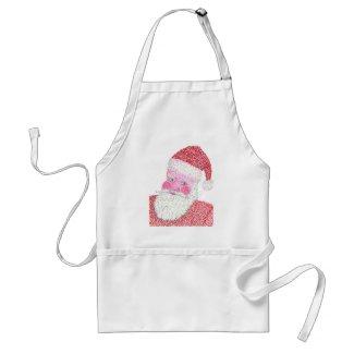 Christmas Santa Claus aprons in Pointillism
