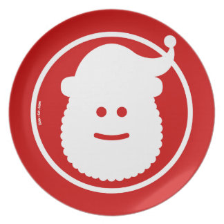 Christmas Santa Claus Avatar Dinner Plate