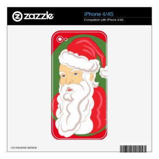 Christmas Santa Claus Cameo iPhone 4S Decal