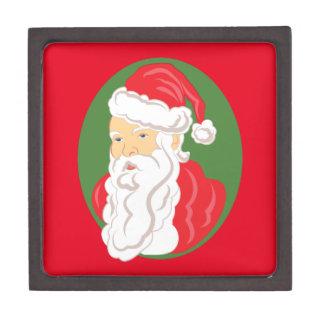 Christmas Santa Claus Cameo Jewelry Box
