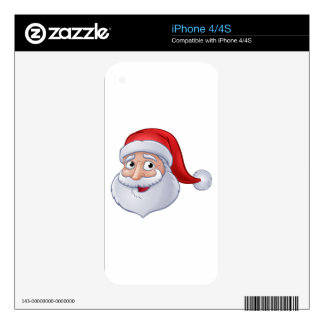 Christmas Santa Claus Cartoon Decal For iPhone 4