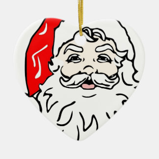Christmas Santa Claus Ceramic Ornament