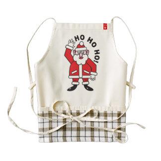 Christmas Santa Claus HO HO HO! 2.0 Zazzle HEART Apron