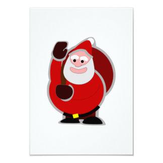 "Christmas Santa Claus 3.5"" X 5"" Invitation Card"