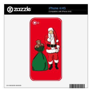 Christmas Santa Claus iPhone 4S Decal