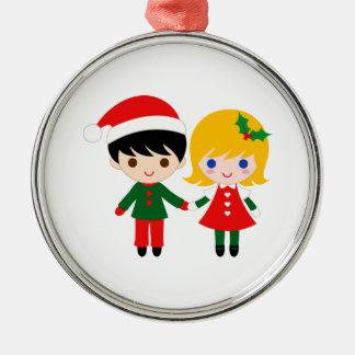 Christmas Santa Claus Metal Ornament