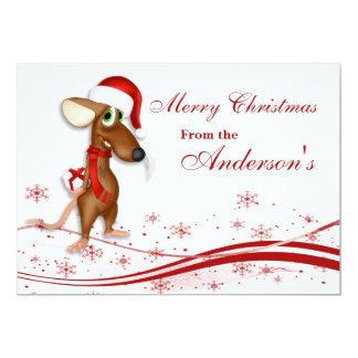 Christmas Santa Claus Mouse Greeting Card