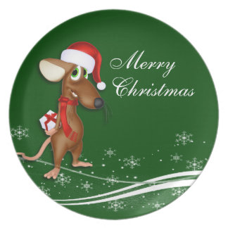 Christmas Santa Claus Mouse Party Plate