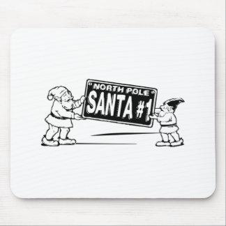 Christmas Santa Claus North Pole Mousepad