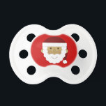 """Christmas Santa Claus Pacifier<br><div class=""""desc"""">This pacifier is white with a red background behind a vintage cartoon Santa Claus face. Makes a great stocking stuffer for your baby&#39;s first Christmas.</div>"""