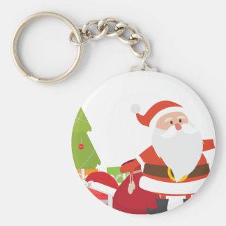 Christmas Santa Claus Presents Gift Cute Cartoon Keychain