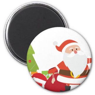 Christmas Santa Claus Presents Gift Cute Cartoon Magnet
