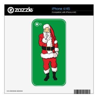 Christmas Santa Claus Skin For The iPhone 4S