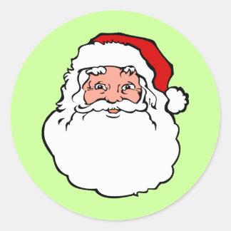 Christmas Santa Claus Classic Round Sticker